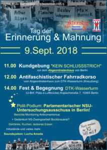Plakat Tag der Erinnerung und Mahnung