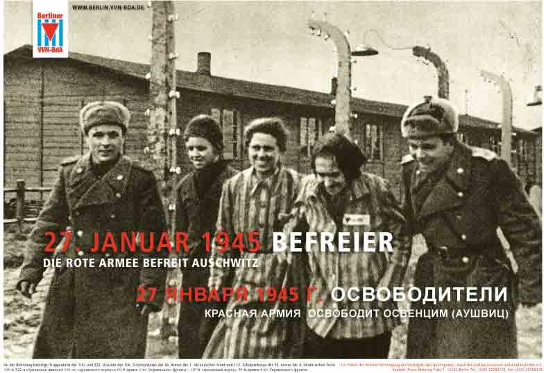 27. Januar Befreier in Auschwitz